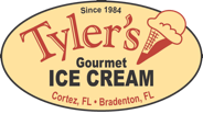 logo reading Tyler's gourmet ice cream since 1984 cortez bradenton